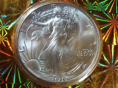 1986 ~ KEY DATE ~ 1 oz. Silver American Eagle w/Airtite FRESH from Mint Roll!