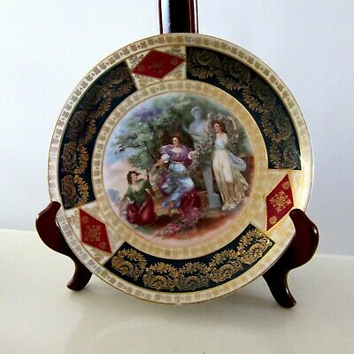 Antique Royal Vienna Hand Painted Collectible Cabinet Plate Beehive Mark Austria