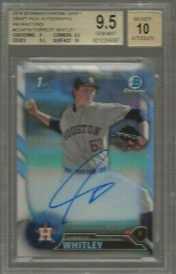 2016 Bowman Chrome Draft Forrest Whitley Auto Refractor 341/499 Astro BGS 9.5 10