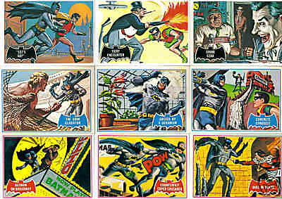 1966 Topps Batman Red Bat 9 Card Lot - Robin - Bat Signals -Holy Cow!