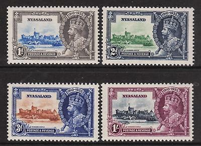NYASSALAND 1935  Jubilee #47-50  SG123/126  Set Mint NH Unmounted