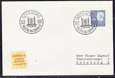 Sweden 1961  - 30 Ore King Goteborg Cover with Cinderella