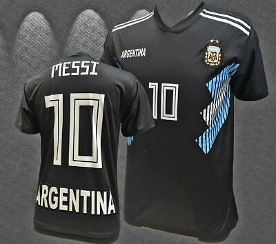 innovative design f7901 63b2f ARGENTINA NEGRA BLACK Messi World Cup Jersey 2018-2019