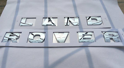 Chrome 3M Letters Hood or Trunk Tailgate Emblem Badge Nameplate For Land Rover