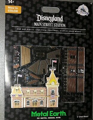Disney Parks Metal Earth Disneyland Main Street Station 3D Metal Model Kit