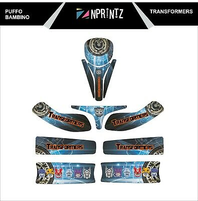 Puffo Bambino Transformers Style Full Kart Sticker Kit - Karting -Cadet-Rookie