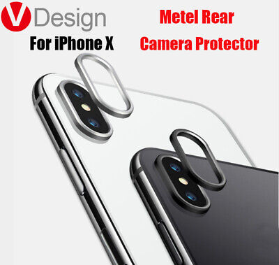 Metal Case Rear Camera Lens Protective Rings Cover Protector For iPhone x Lot