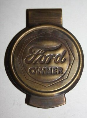 Ford Owner solid brass Money clip HERE IN HAWAII