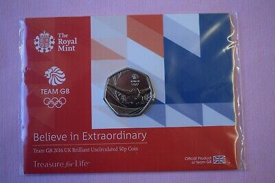 Royal Mint TEAM GB 2016 Commonwealth Games Commemorative Fifty Pence 50p Coin #1