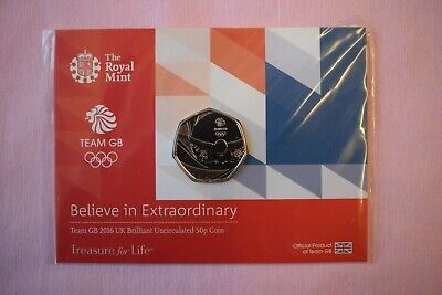 Royal Mint TEAM GB 2016 Commonwealth Games Commemorative Fifty Pence 50p Coin #2