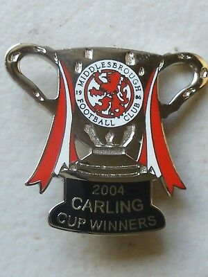 Middlesbrough football club - 2004 Carling Cup Winners badge
