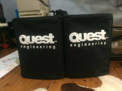2 Quest QS250's and 2 Hohner Speaker Stands