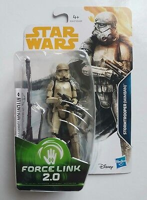 Star Wars Figurine Stormtrooper Mimban Série Force Link 2.0 Sous Blister Neuf