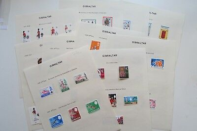 XL3869: Gibraltar (1966 - 74).  Collection of 27 Different Mint Stamp Sets