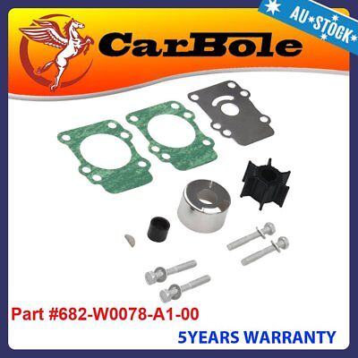 Water Pump Impeller Repair Kit 682-W0078-A1-00 for Yamaha 9.9hp 15hp Outboard