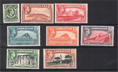 Gibraltar 1938etc MH group SG121, plus  (perf13) values to 2/- see description