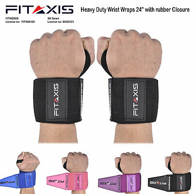 "Wrist Wraps 24"" for Strength Training Crossfit Body Budling Weight Lifting Gym"