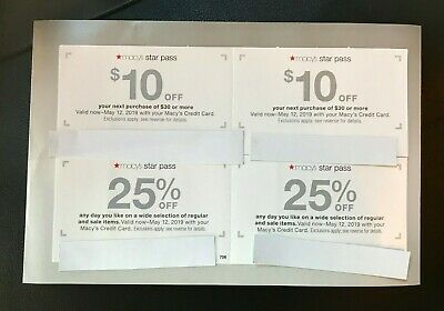 Macy's Coupons $10 off $30(2) 25% any day you choose(2) or 15%  Fine Jewelry