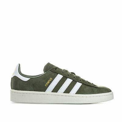 d0f6bdbe8fc ADIDAS CAMPUS TRAINERS in Khaki Green   White suede retro vintage ...