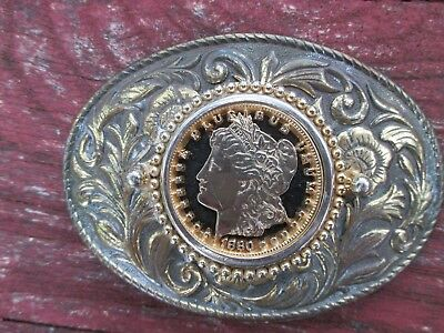 Belt Buckle With Cut Out Lady Liberty