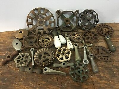 28 Vintage Water Faucet Handles and Knobs Steampunk Industrial Art