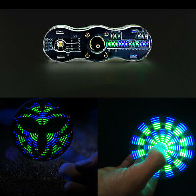 DIY Kit Blue + Green Rotating LED Electronic Kit 24 kinds Cool Pattern toy Gift