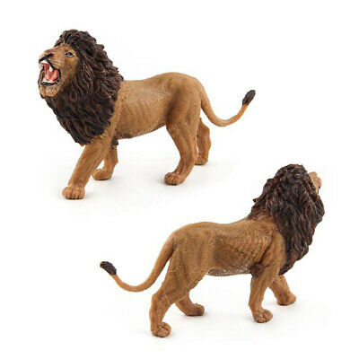 Simulation Lion Mini Zoo Animals Resin Model Toy Children Kids Toys Gifts shan