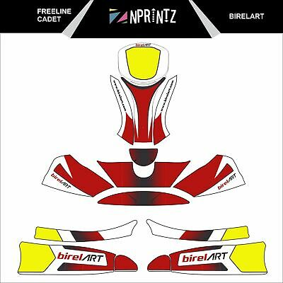 Freeline Cadet Birel Art Full Kart Sticker Kit Karting  -Cadet-Rookie