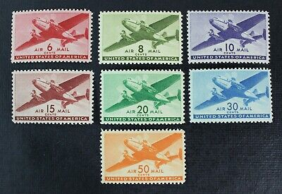 CKStamps: US Air Mail stamps Collection Scott#C25-C31 Mint NH OG