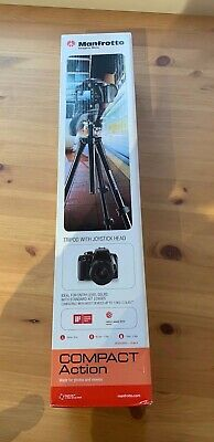 Manfrotto Compact Action Camers Stand Tripod With Joystick Head Brand New