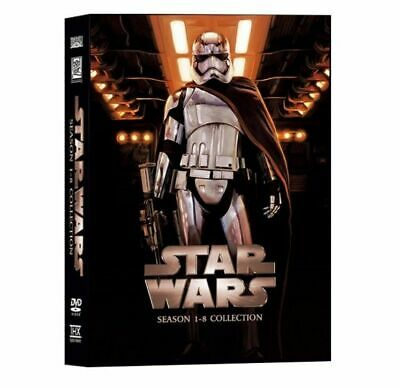 Star Wars Movie Saga All 8 Films 1-8 DVD Box Set Complete Collection New