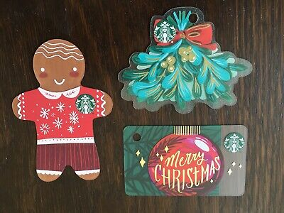 "Canada Series STARBUCKS 3 cards ""MINI DIE CUT CARDS - 2018 ISSUES"" New No Value"