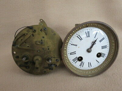X 2 Antique French Striking Clock Movements For Spares (Lot 1)