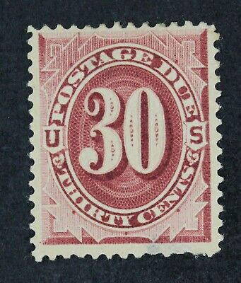 CKStamps: US Postage Due Stamps Collection Scott#J27 30c Unused NG Thin