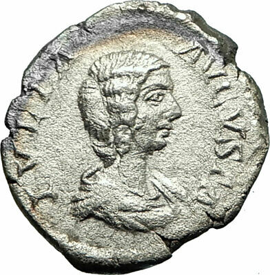 JULIA DOMNA 207AD Rare Rome Silver Ancient Roman Coin Fortuna Child  i75836
