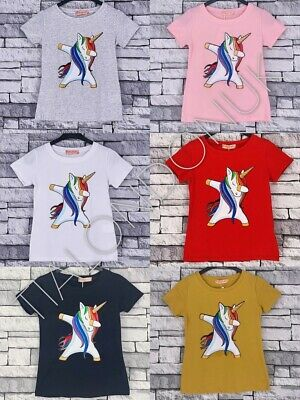 9720e7221417 Dabbing Dab Unicorn T-Shirt Children's Kids T Shirt Boys Girls Age 4-14
