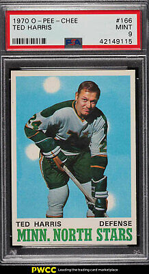1970 O-Pee-Chee Hockey Ted Harris #166 PSA 9 MINT (PWCC)