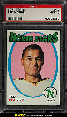 1971 Topps Hockey Ted Harris #32 PSA 9 MINT (PWCC)