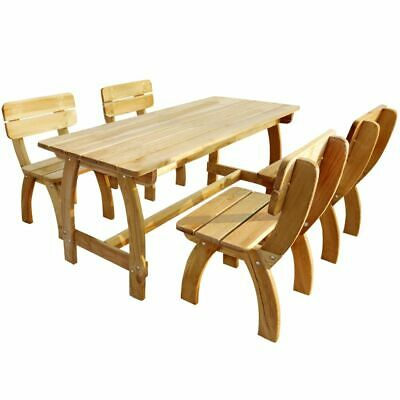 vidaXL Ensemble de chaises et table de jardin terrasse patio 5 pcs pin imprégné
