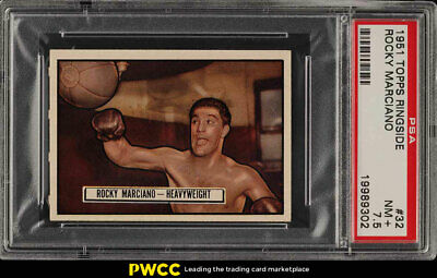 1951 Topps Ringside Rocky Marciano ROOKIE RC #32 PSA 7.5 NRMT+ (PWCC)