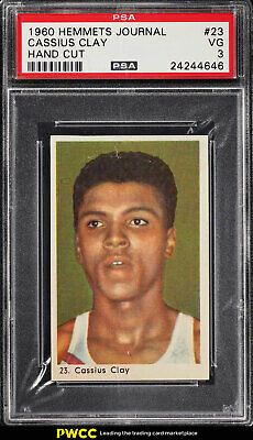 1960 Hemmets Journal Boxing Cassius Clay Muhammad Ali ROOKIE RC #23 PSA 3 (PWCC)