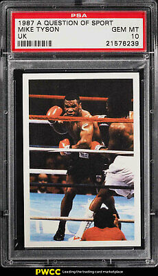 1987 A Question Of Sport UK Boxing Mike Tyson PSA 10 GEM MINT (PWCC)