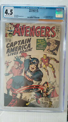 Avengers #4 CGC 4.5 VG+  1st Silver Age Appearance Captain America