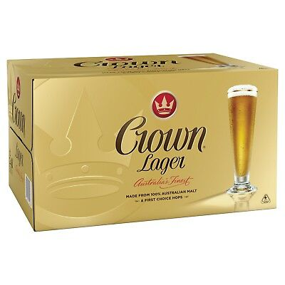 Crown Lager Case 24 x 375ml Bottles