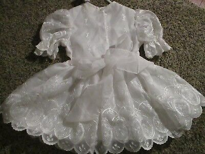 Vintage Little Princes Girls LACE SCALLOPED Pageant Party Dress Size 3T
