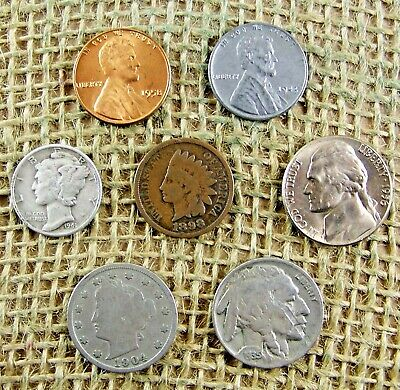 Starter Collection Mix Lot of 10  Old US Coins NO LONGER FOUND IN POCKET CHANGE