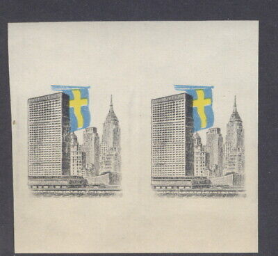 Liberia 1960, Swedish flag printed on proof of Haiti stamp centers, NH #370