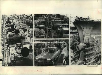 1968 Press Photo The Four Leading Industries in Japan - mjp36897