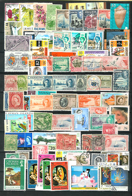 British Colonies Mixture of 80 All Different Mint & Used Stamps, with Older