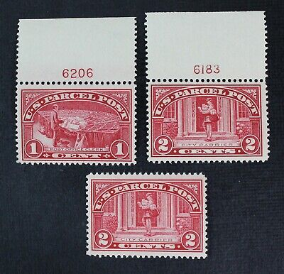 CKStamps: US Parcel Post Stamps Collection Scott#Q1 Q2 Mint NH OG, 2H on Selvage